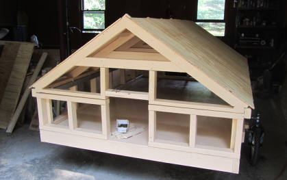 Entire frame for chicken coop