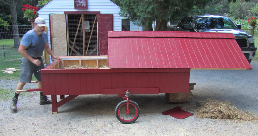 Mobile Coop Finished and Red
